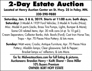 2-Day Estate Auction