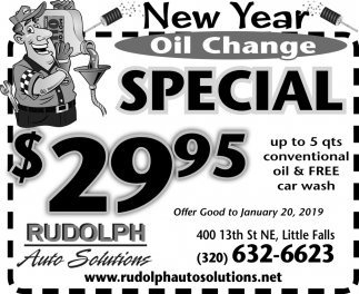 New Year Oil Change Special