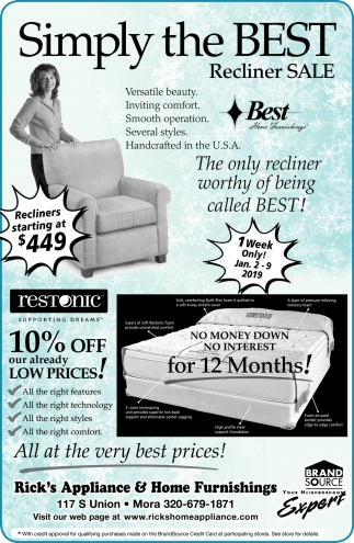 Simply the Best Recliner Sale