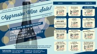 Aggressive Wine Sale!