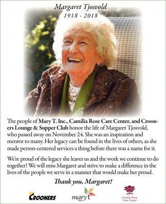 Thank You, Margaret!