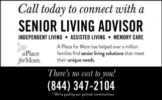 Call Today to Connect with a Senior Living Advisor