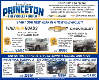 Start Our New Year in a New Chevrolet!