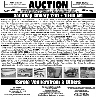 Auction Saturday January 12th