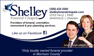 Only Locally Owner Funeral Provider in Morrison County