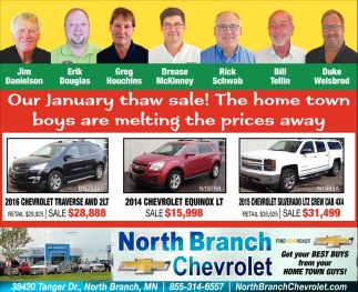 Our January thaw Sale!