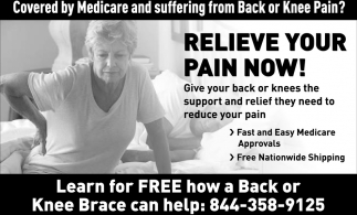 e4b36929a9 Covered by Medicare and Suffering from Back or Knee Pain?, Knee ...