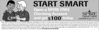 Open a Spire FREE Checking Account and get $100 Today