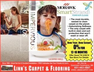 New Year, New Carpet 0% for 12-18 Months