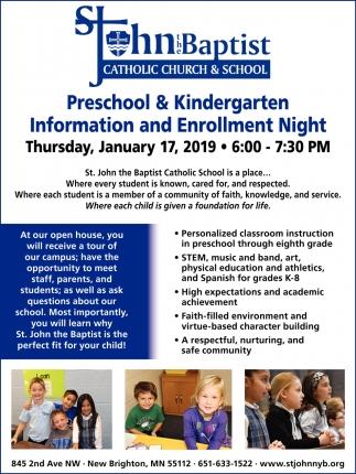 Preschool & Kindergarten Information and Enrollment Night