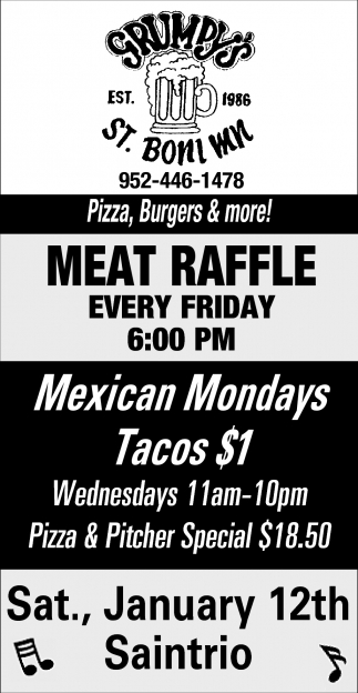 Meat Raffle Every Friday!