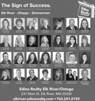 The Sign of Success in Elk River