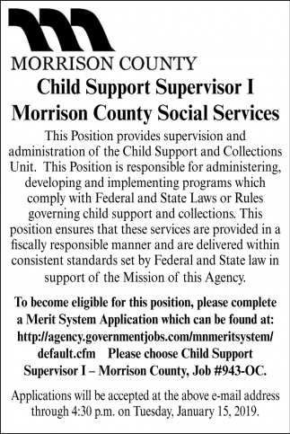 Child Support Supervisor