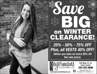 Save Big on Winter Clearance!