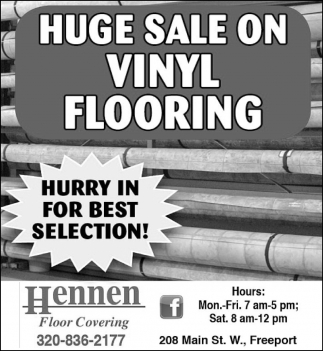 Huge Sale on Vinyl Flooring