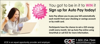 Sign up for Auto Pay Today!