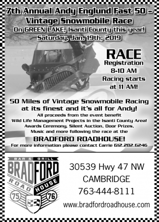 7th Annual Andy Englund Fast 50 - Vintage Snowmobile Race