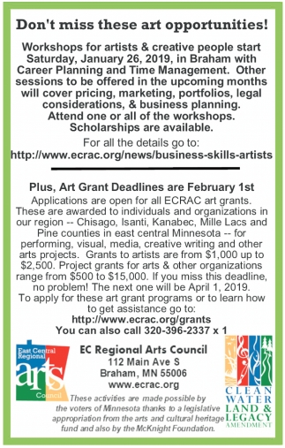 Don't Miss these Art Opportunities!