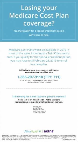 Losing Your Medicare Cost Plan Coverage?