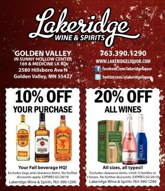 Lakeridge Wine & Spirits
