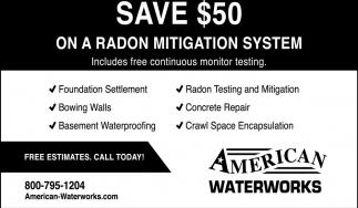 Save $50 On a Radon Mitigation System