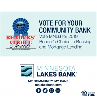 Vote for Your Community Bank