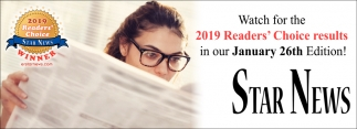Watch for the 2019 Readers' Choice Results in Our January 26th Edition!