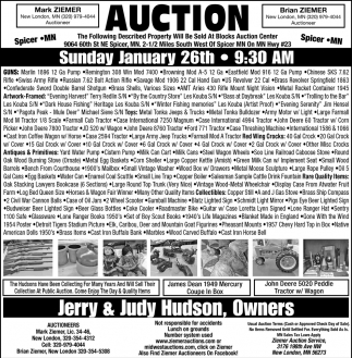 Auction Sunday January 26th