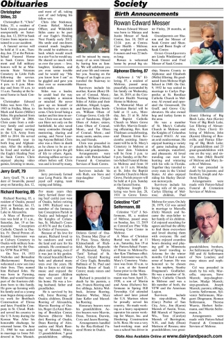 Obits Also Available Online