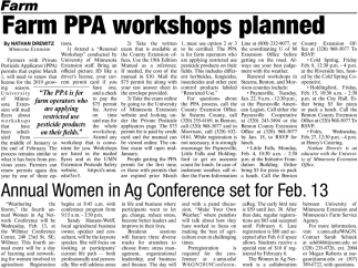 Farm PPA Workshops Planned