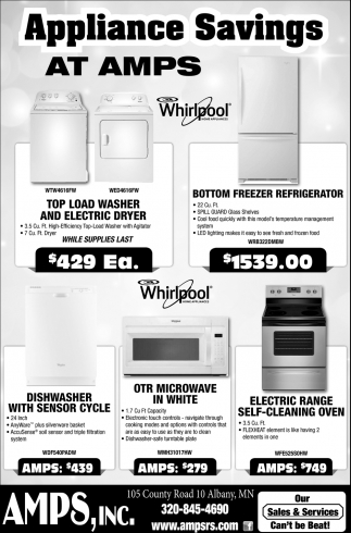 Appliance Savings at AMPS