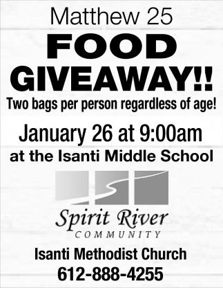Matthew 25 Food Giveaway!