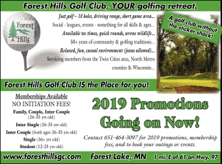 2019 Promotions Going On Now!