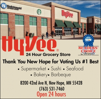 Thank You New Hope for Voting Us #1 Best Supermarket