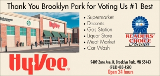 Thank You Brooklyn Park for Voting Us #1 Best Supermarket