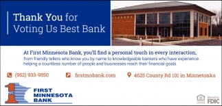 Thank You for Voting Us Best Bank