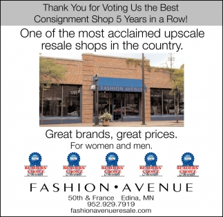 Thank You for Voting Us the Best Consignment Shop 5 Years in a Row!