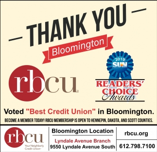 Thank You Bloomington