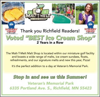 Thank You Richfield Readers!