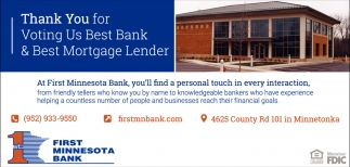Thank You for Voting Us Best Bank & Best Mortgage Lender