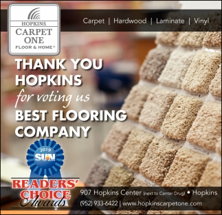 Thank You Hopkins For Voting Us Best Flooring Company Carpet One Mn