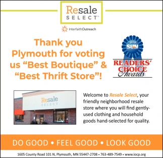 Thank You Plymouth for Voting Us