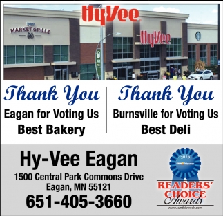 Thank You Eagan for Voting Us Best Bakery & Thank You Burnsville for Voting Us Best Deli