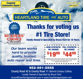 Thanks for Voting Us #1 Tire Store!
