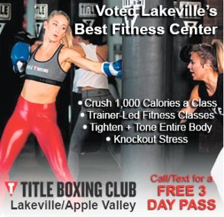 Voted Lakeville's Best Fitness Center