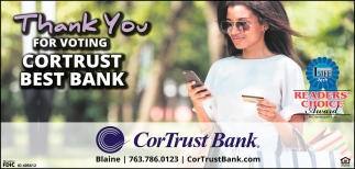 Thank You for Voting Cortrust Best Bank