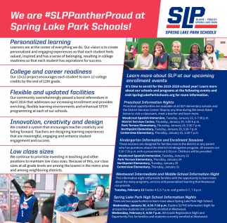 We are #SLPPanterProud at Spring Lake Park Schools!