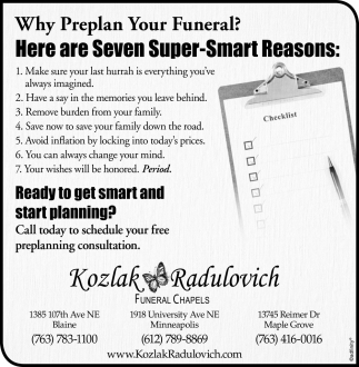 Why Preplan Your Funeral?