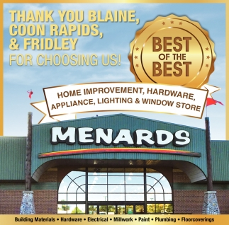 Thank You Blaine, Coon Rapids, & Fridley for Choosing Us!