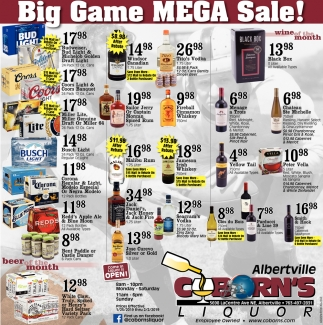 Big Game Mega Sale!